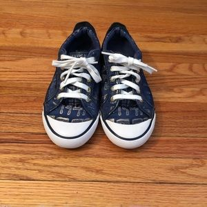 Coach Blue and Gold Tennis Shoes Size 6 1/2